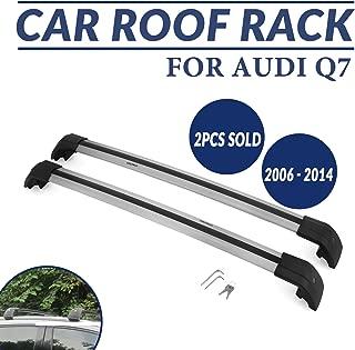 Mophorn Roof Rack Cross Bars Baggage Locking Roof Rail Crossbars Luggage Cargo Ladder Bike Load Roof Cross Bars Black (for Audi Q7, for Audi Q7 2006-2015 Sliver)