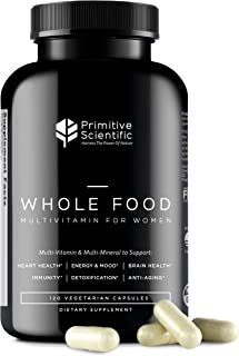 Sponsored Ad - Primitive Scientific Whole Food Multivitamin for Women (120 Vegetarian Capsules) for Holistic Health, Natur...