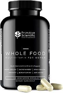 Primitive Scientific Whole Food Multivitamin for Women (120 Vegetarian Capsules) for Holistic Health, Natur...