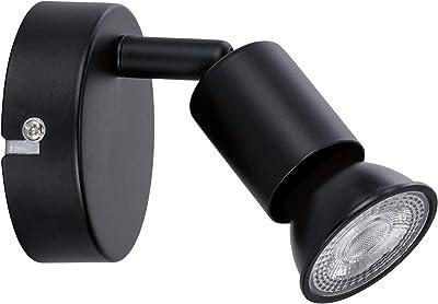 Paulmann 66755 projecteur Carolina 1Flamme Max. 10Watts plafonnier Noir Mat Spot Métal GU10, pièce