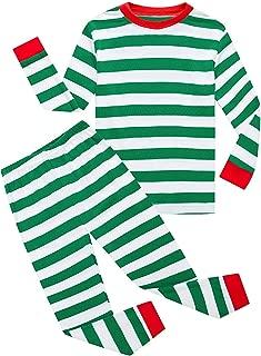 Boys Christmas Pajamas Toddler Clothes Set Cotton Kids Stripe PJS Sleepwear