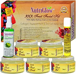 NutriGlow AHA Fruit Facial Kit 300g With Alpha Hydroxy Acids & Anti Oxidants