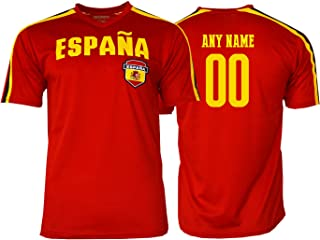Pana Spain Soccer Jersey Flag España Youth Kids Training World Cup Custom Name and Number