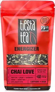 Tiesta Tea Chai Love Spiced Chai Black Tea, 30 Servings, 1.9 Ounce Pouch - High Caffeine, Loose Leaf Black Tea Energizer Blend, Non-GMO