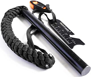 REHTAEL Flint and Steel Fire Starter Survival kit, [1/2 x 6 Inch] Large Ferro Rod with Multi-Tool Fire Striker/Paracord La...