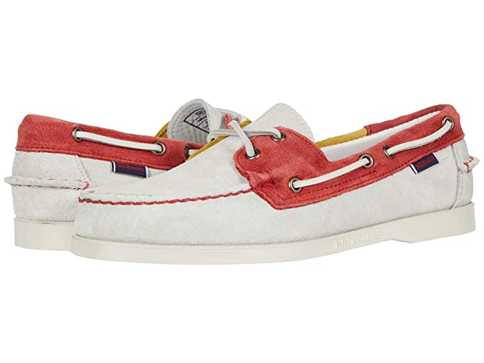 Sebago  Portland Jibs Flags (Off-White/Red/Yellow) Mens Shoes