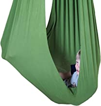 SENSORY4U Indoor Therapy Sensory Swing for Kids with Special Needs (Hardware Included) | Snuggle Cuddle Hammock for Kids with Autism, ADHD, Aspergers | Great for Sensory Integration (Olive Green)