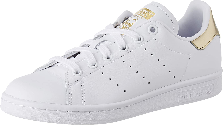 adidas Stan Smith W, Basket Femme, FTWR White/FTWR White/Gold Met ...