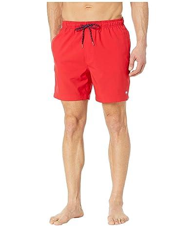 Southern Tide Solid Swim Trunks (Roman Red) Men