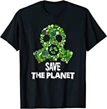 Save the Planet! Recycle Icons Gas Mask T-Shirt
