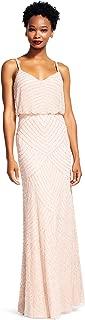 Women's Art Deco Beaded Blouson Gown