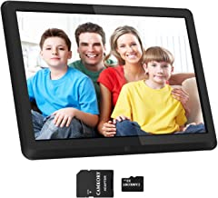 $84 Get 1920x1080 16:9 IPS Screen 10 inches Digital Photo Frame + 32GB SD Card HD Digital Picture Frame Widescreen, 1080P HD Video Frame, Photos Auto Rotate, Support Thumb USB Drive, SD/MMC/MS Card(Black)
