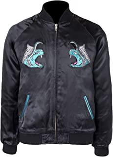 CHICAGO-FASHIONS Men Final Noctis Behemoth Fantasy Bomber Leather Jacket