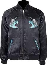 CHICAGO-FASHIONS Men Final Noctis Behemoth Fantasy Bomber Leather Jacket