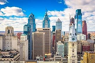 Philadelphia Pennsylvania Downtown Skyline Photo Art Print Cool Huge Large Giant Poster Art 54x36
