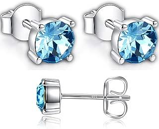 Swarovski Stud Earrings for Women - Sterling Silver Crystal Earrings - Pierced Earrings for Girls - Crystal From Swarovski By GoSparkling Allergy-Free Passed SGS Inspection