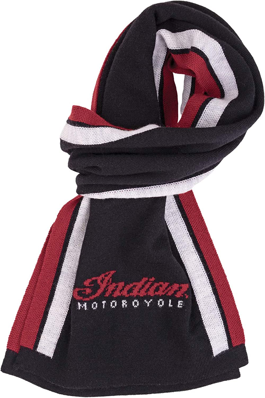 Indian Motorcycle Merino Wool Scarf, Black - One Size