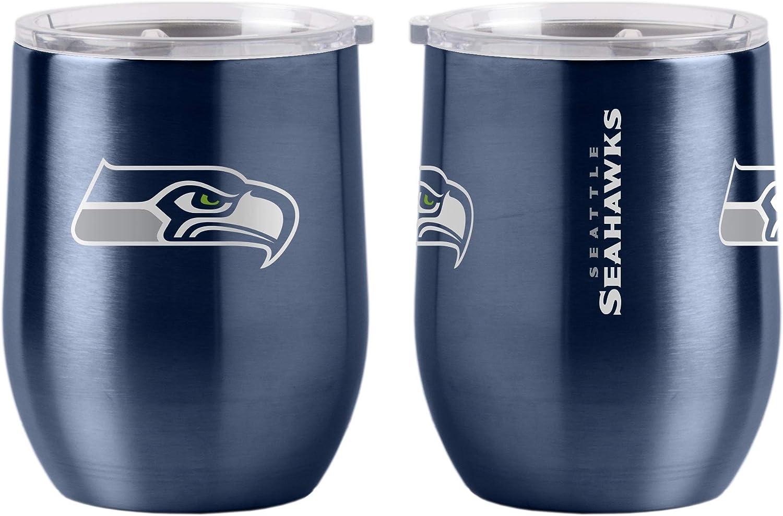 lowest price Boelter Brands NFL Seattle Seahawks Superior Curve Tumbler Steel Drink 16
