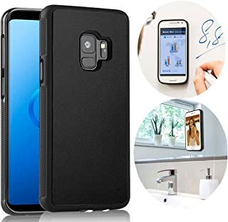 CloudValley Galaxy S9 Case, Anti Gravity Phone Case Magical Nano Can Stick to Glass, Whiteboards, Tile and Smooth Flat Surfaces for Samsung Galaxy S9 (2018) [Black]
