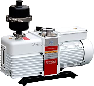Across International SV11.110-UL Ai SuperVac Commercial Grade Dual-Stage Chemical Resistant Vacuum Pump with Filter, 11 cf...