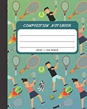 Composition Notebook: Tennis Sports Cover 8x10