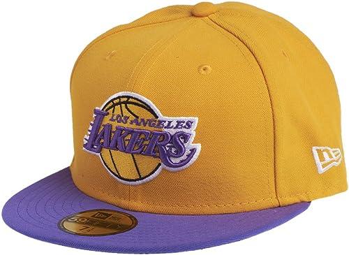 New Era 59FIFTY Casquette - NBA LA Lakers Jaune/Violet