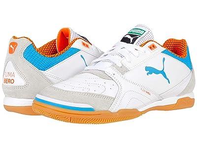 PUMA Ibero (Puma White/Dresden Blue/Shocking Orange/Gum) Shoes
