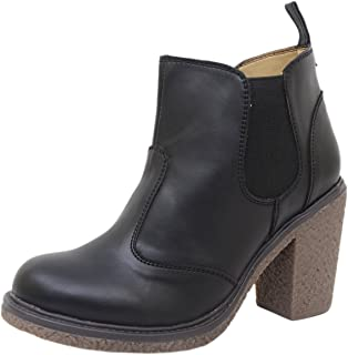 Athlego Women's Synthetic high Ankle Black Boots