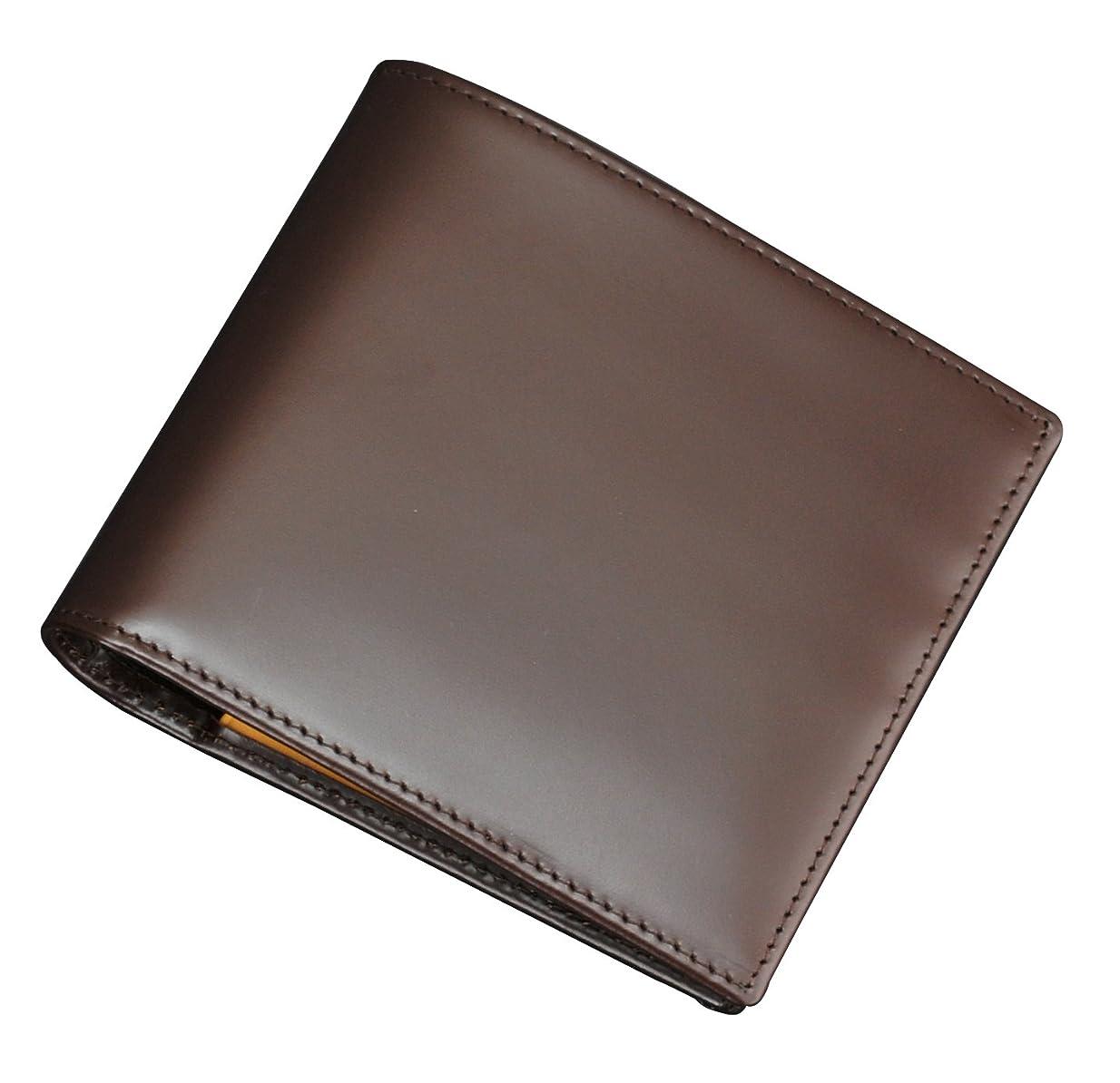 肉出くわす安息(エッティンガー) ETTINGER [ブラウン]折り畳み式カードポケット&コインパース ブライドルレザー2つ折財布【並行輸入品】