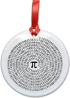 Value of Pi Ceramic Ornament