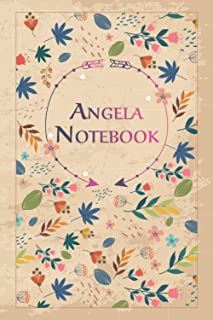 """Angela Notebook: Lined Notebook/Journal Cute Gift for Angela, Elegant Cover, 100 Pages of High Quality, 6""""x9"""" Lightweight ..."""