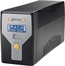 E2 LCD 600 - Sistemas de alimentación ininterrumpida (SAI/UPS) tecnología de desempeño en línea 600 VA, 4 IEC tomacorrientes (Garantía 2 años)