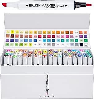 Bianyo Professional Series Alcohol-Based Dual Tip Brush Markers Set (Set of 72,Display box)