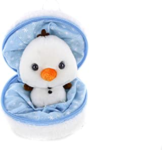 Plushland Snowball Stuffed Zip up Animal – Snowman – Cute Plush Animals Assortment – Wonderful Soft Toy for Families and Friends