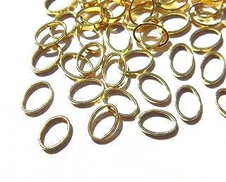 【jewel】ゴールド 立体メタルパーツ 10個入り オーバル 型 (楕円) 直径6mm 厚み1mm 手芸 材料 レジン ネイルアート パーツ 素材