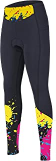 beroy Women Cycling Tights with Thickness Padding,Cycling Bike Pants