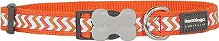 طوق عاكس للكلاب من ريد دينجو، المقاس: متوسط، كبير، اللون: برتقالي
