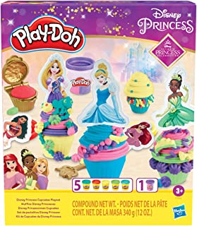 Play-Doh Disney Princess Cupcakes Playset Arts and Crafts Toy for Kids 3 Years and Up with 6 Non-Toxic Cans Including Dual...