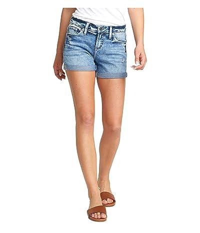 Silver Jeans Co. Elyse Mid-Rise Curvy Fit Shorts L53017SPK258 (Indigo) Women