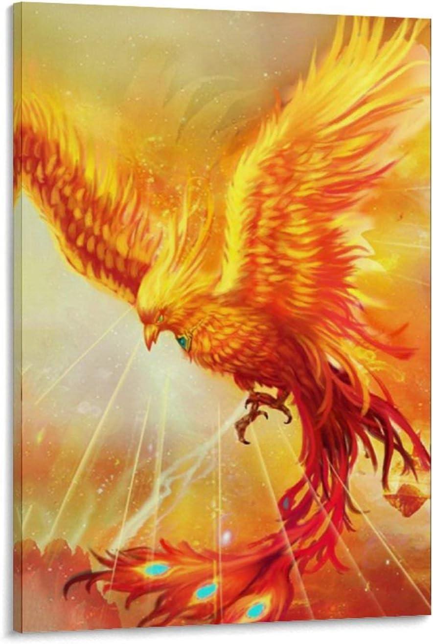 XXERF China 上品 Realistic Phoenix Bird Wal Art Poster and 再入荷/予約販売! Canvas
