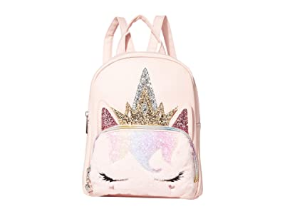 OMG! Accessories Sugar Glitter Unicorn Queen Mini Backpack (Pink) Backpack Bags