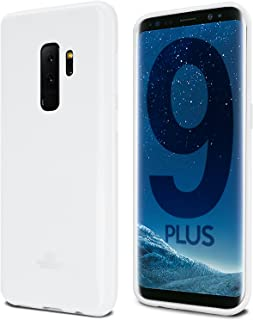 Goospery Pearl Jelly for Samsung Galaxy S9 Plus Case (2018) Slim Thin Rubber Case (White) S9P-JEL-WHT