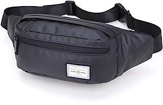 Casual Waist Bag, Breathable Waterproof Chest Water Pack Money Phone, Dual Pocket Belt Pack - Black