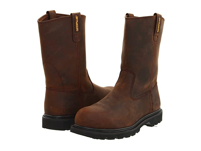 Caterpillar  Revolver Steel Toe (Dark Brown) Mens Work Pull-on Boots