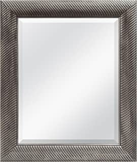 MCS 16x20 Inch Wall Mirror, 22x28 Inch Overall Size, Antique Silver Finish