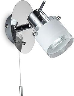 B.K. Licht Applique Murale LED Spécial Salle De Bain, IP44, Interrupteur à  Cordelette,