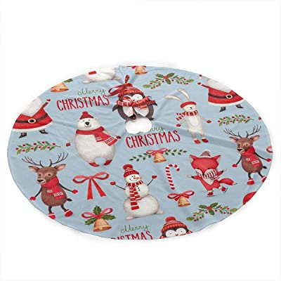 YJWLO - Falda de árbol de Navidad con diseño de Elfo de Navidad ...
