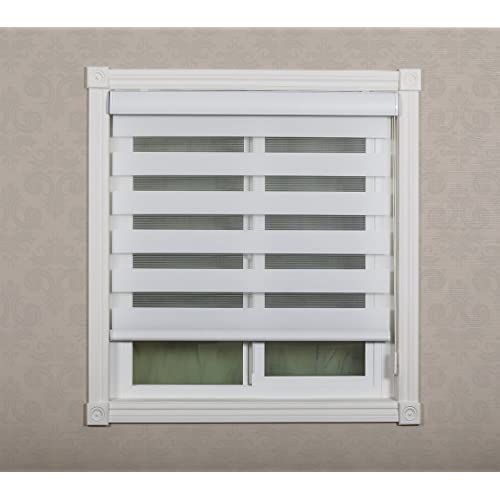 Combi Shades Premium For French And Sliding Glass Door; Zebra Dual Shades,  Fabric: