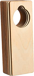 Juvale Wood Door Knob Hangers - 12-Pack 9.5 x 3.25 x 0.1-Inch Door Knob Signs for Craft, DIY Craft, Home, Office Hotel Decoration, Business Use, Unfinished Wood