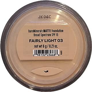 Bare Escentuals Bare Minerals Foundation Matte SPF 15 Fairly Light, Large, 0.21 Ounce